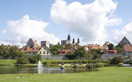 Visby, Almedalen Valley, Gotland, Visby