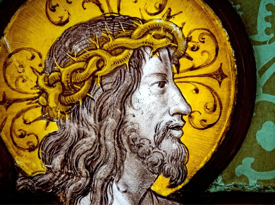 Jesus, Kristus, Målat Glas, Religion, Religiös