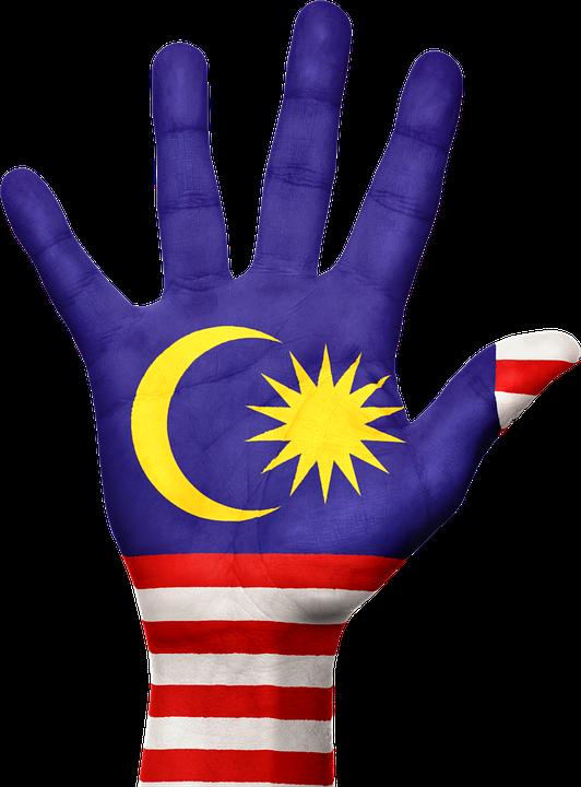 Malaysia Flag Hand 183 Free Image On Pixabay