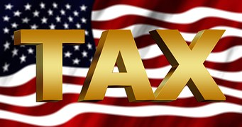 Taxes, Tax Office, Usa, America, Flag