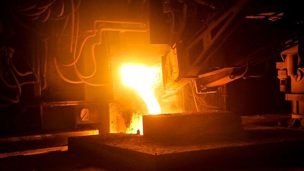 Industrie, Acier, De Fer, Haut Fourneau
