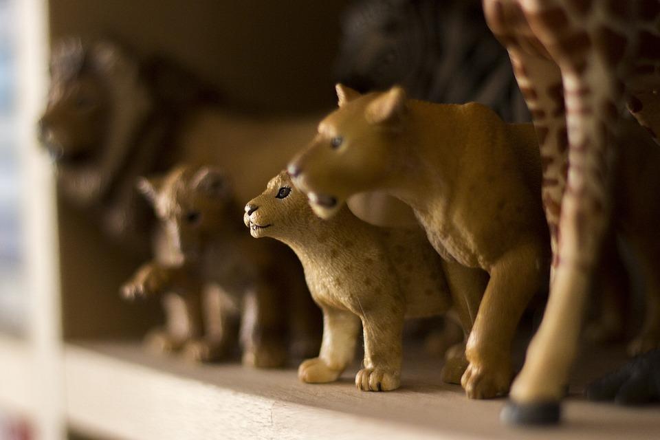 Chiffres, Jouets, Schleich, Lion, Afrique, Les Enfants