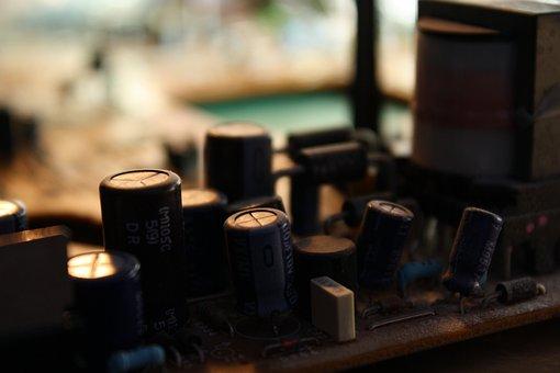 Capacitor, placa de circuito, eletrônica