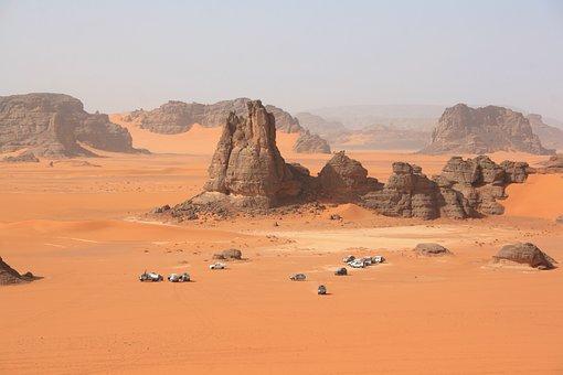 Algeria Sahara Desert Dunes 4X4 Sand Erosi