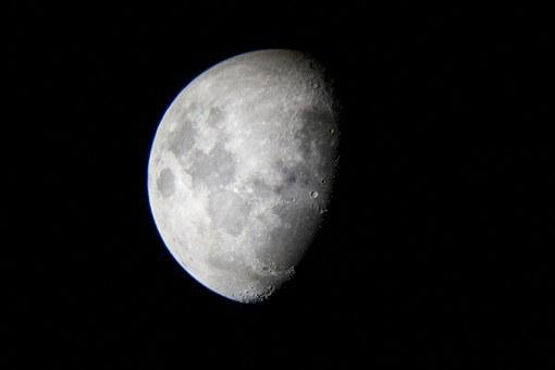 Moon, First Quarter, Quarter, Lunar