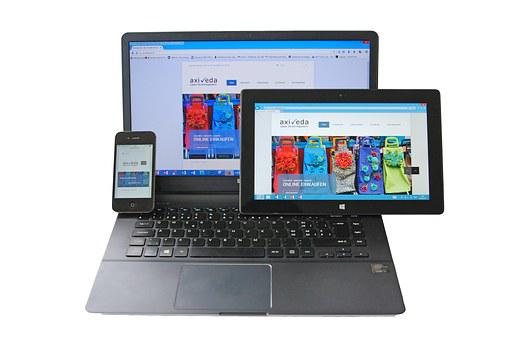 Notebook, Tablet, Smartphone, Responsif