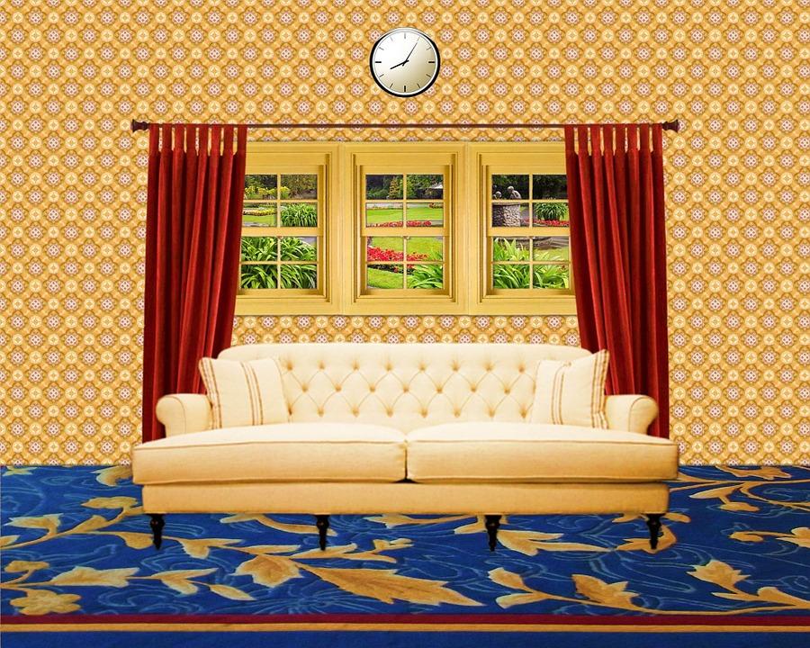 무료 일러스트: 룸, 내부, 홈, 집, 생활, 가구, 벽, 층, 소파, 창 ...