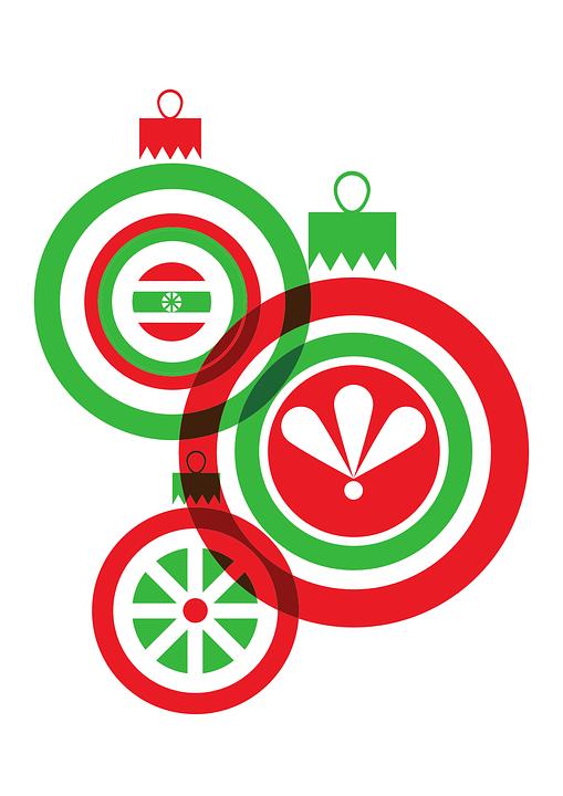Navidad rojo verde gr ficos vectoriales gratis en pixabay - Bolas de navidad grandes ...