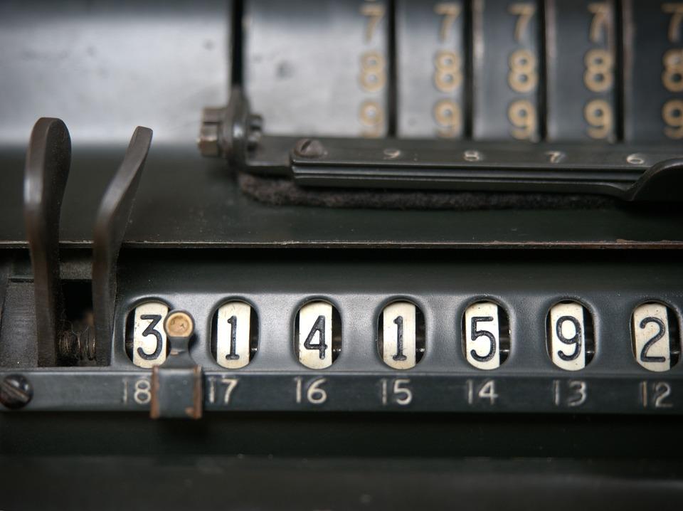 ビンテージ, 電卓, Π, 計算, 数学, 円, 半径, レトロ, 桁, 番号, ラジアン, マシン, 古い