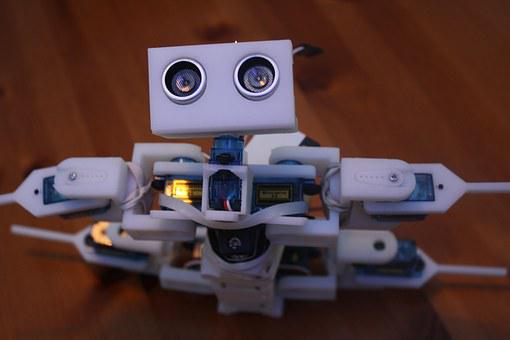 Robot, Servo, An Ultrasound Sensor