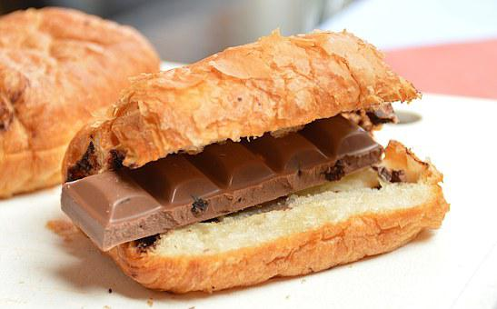 Croissant, Chocolate, Breakfast, Healthy