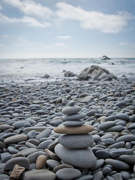 Free Photo Stones Beach Still Life Sea Free Image On