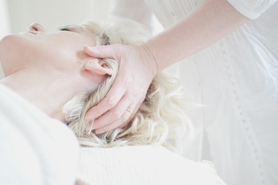 Testa, Massaggio, Trattamento, Relax, Donna, Benessere