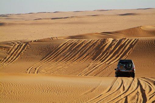 サハラ, 砂漠, 四輪駆動車, 砂丘, 砂, オフロードラリー