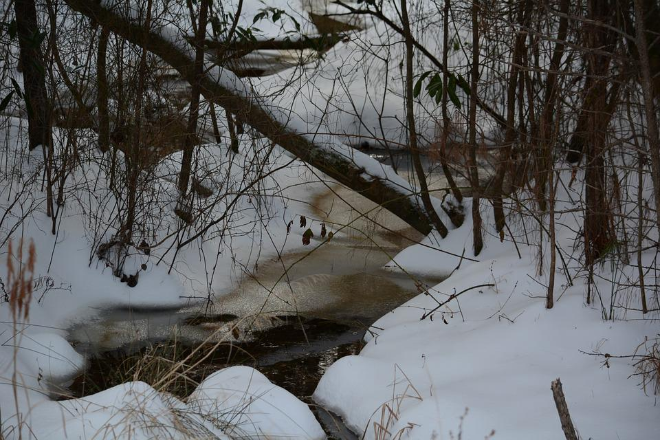 snowy creek frozen  u00b7 free photo on pixabay