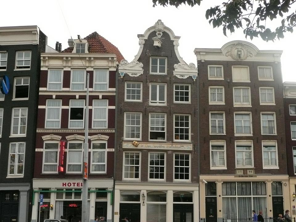 Gratis foto amsterdam rij huizen gratis afbeelding op pixabay 651365 - Foto huizen ...