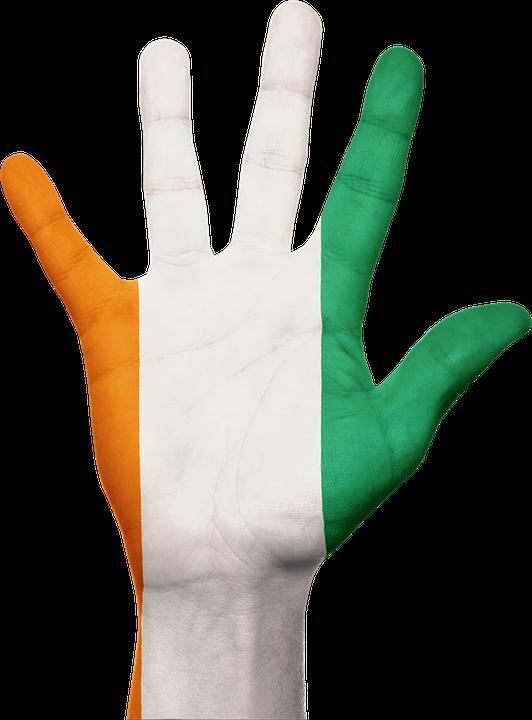 ivory coast flag hand africa country patriotism