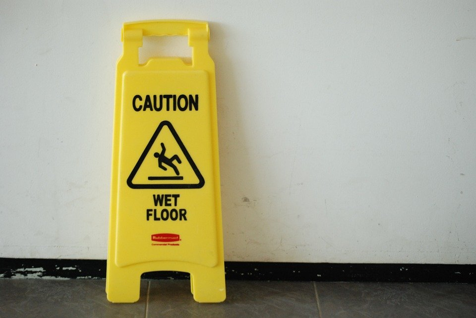 Posted Warning Wet Floor Caution 183 Free Photo On Pixabay