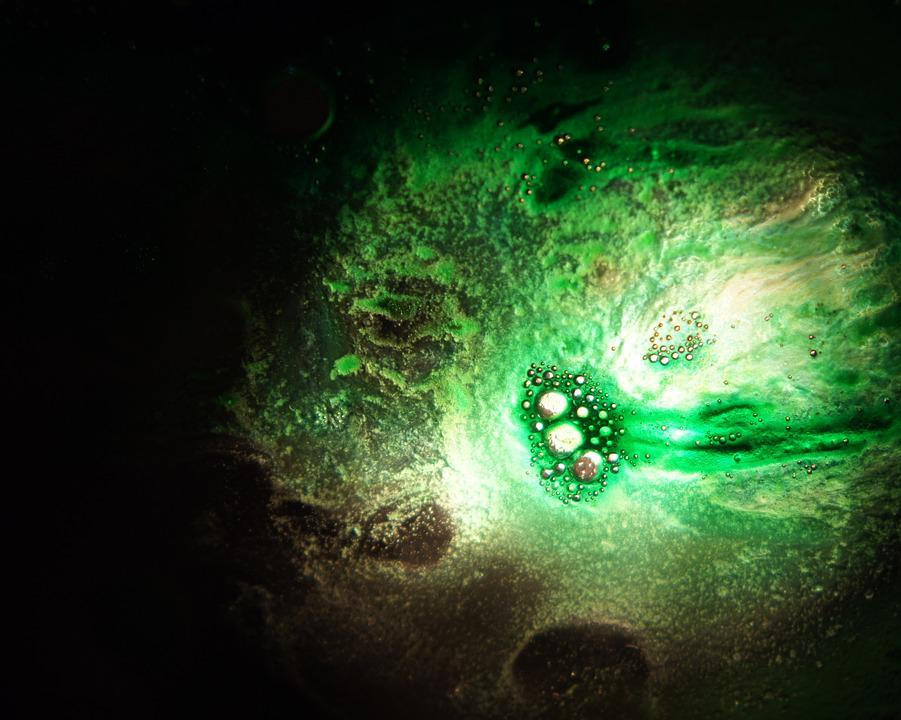 Green, Dark, Light, Background, Abstract, Art, Artistic
