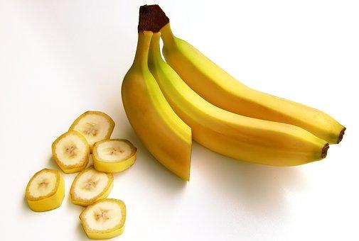 バナナ, フルーツ, 果物, 炭水化物, 甘い, 黄色