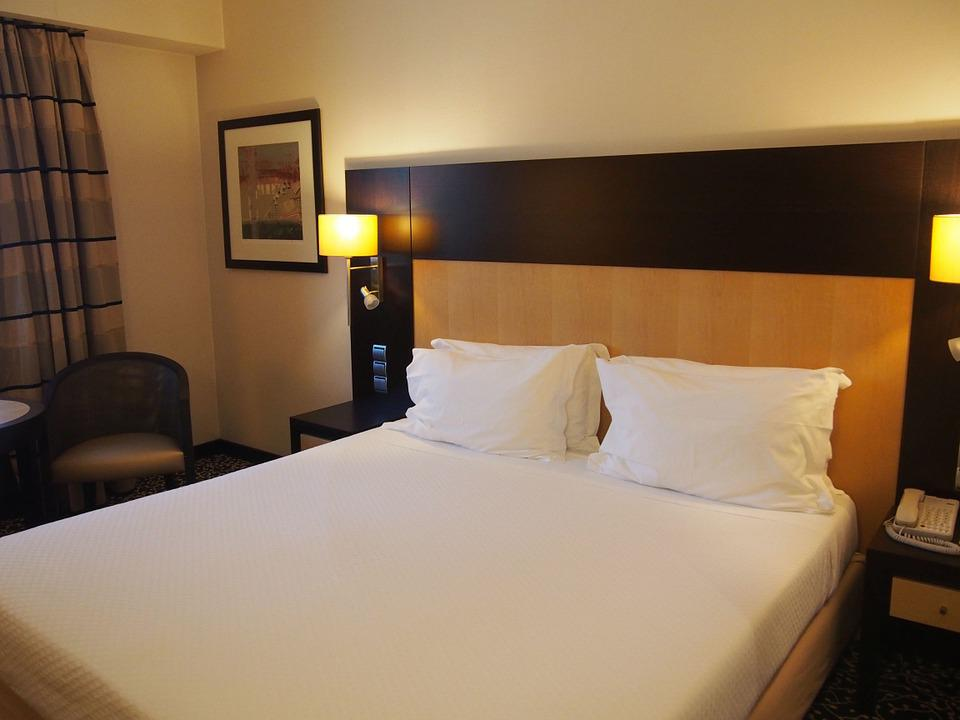 Free photo hotel room bed hotel interior free image for Hotel room interior