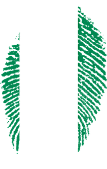 Nigeria, Flag, Fingerprint, Country