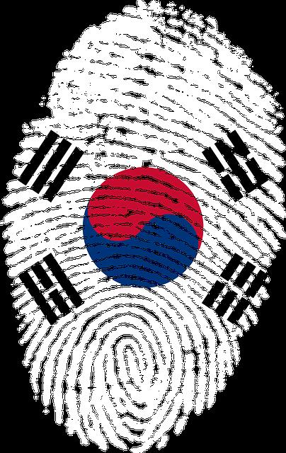 korea flag fingerprint  u00b7 free image on pixabay
