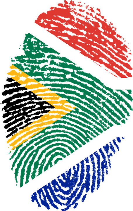South Africa Flag Fingerprint - Free image on Pixabay