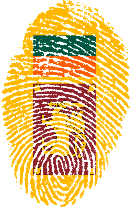 Sri Lanka Flag Fingerprint Country Pride Identity
