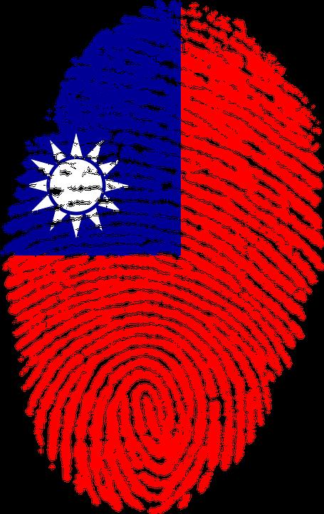 台湾, フラグ, 指紋, 国, プライド, アイデンティティ, シンボル, 記号, 指, 印刷, 国家
