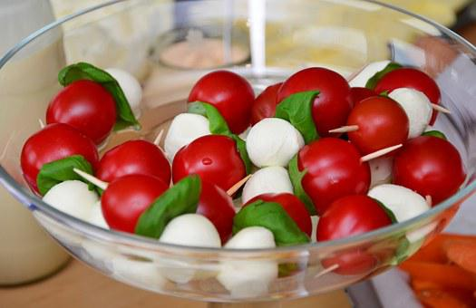Tomato Mozzarella Cocktailtomaten Mozarell