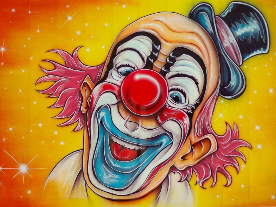Zirkus, Clown, Verkleidung, Kirmes