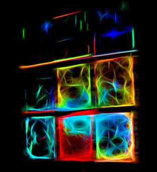 Abstrato, néon, fundo, luz