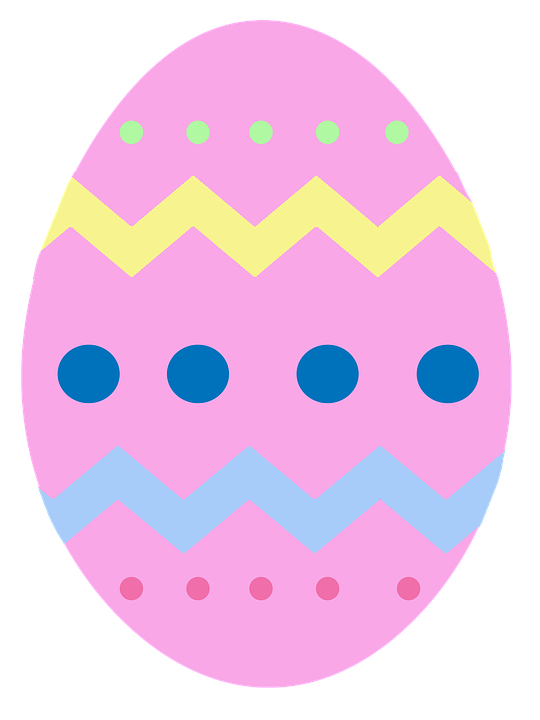 Easter, Egg, Pink, Chevron
