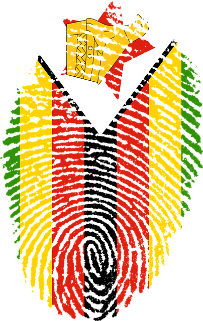 zimbabwe flag fingerprint 183 free image on pixabay