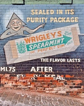 Gum, Vintage, Advertisement, Retro