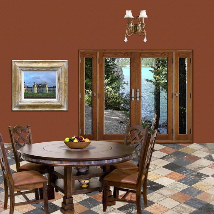 무료 일러스트: 내부, 룸, 홈, 집, 공간, 환경, 장소, 다 이닝 ...