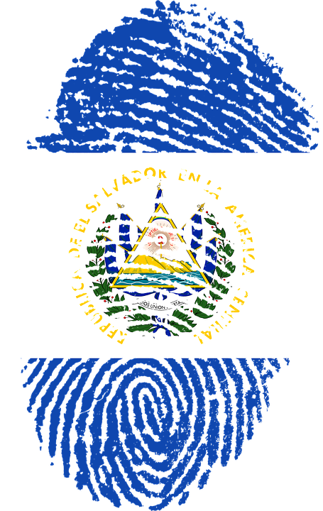 El Salvador Flag Fingerprint 183 Free Image On Pixabay