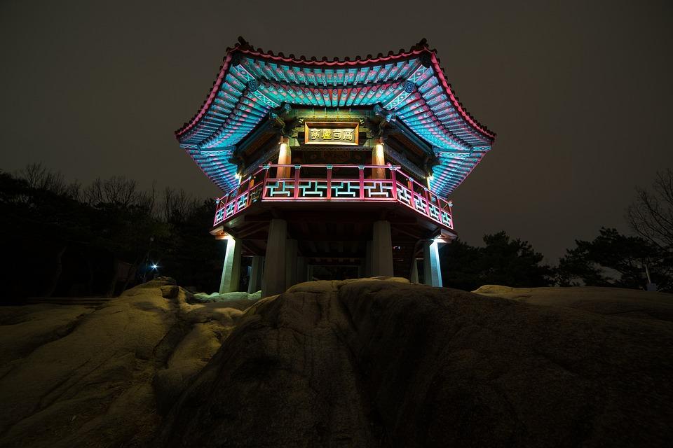 夜景, 高句麗情報, アチャ, 韓国, 観光の