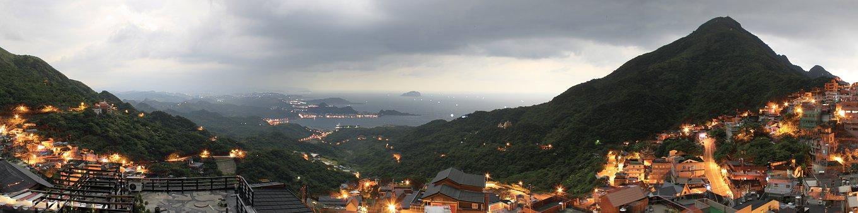Taiwan, Night Light, Landscape, Building