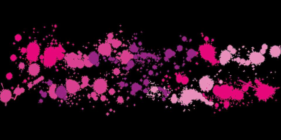 vector gratis: gota, manchas de tinta, rosa - imagen gratis en