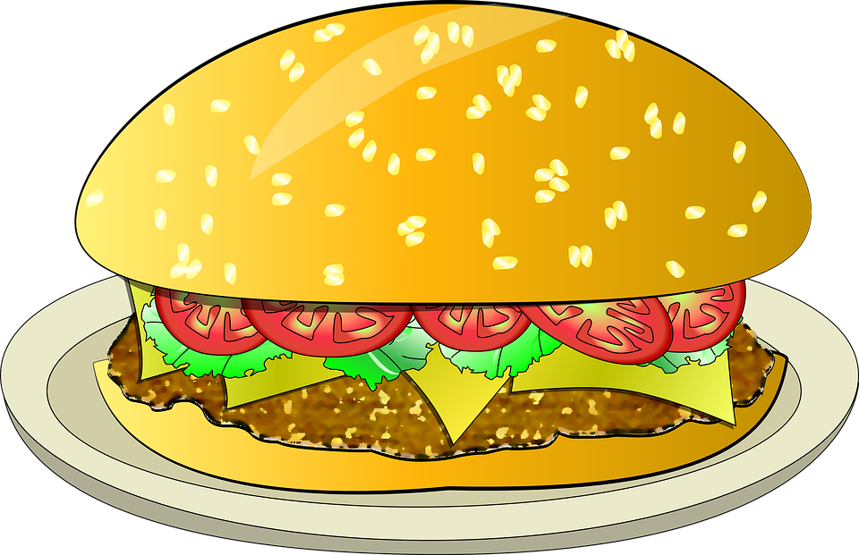 Cartoon hamburger fast food cartoon fast food cartoon cartoon pictures - Free Illustration Burger Cheeseburger Super Burger