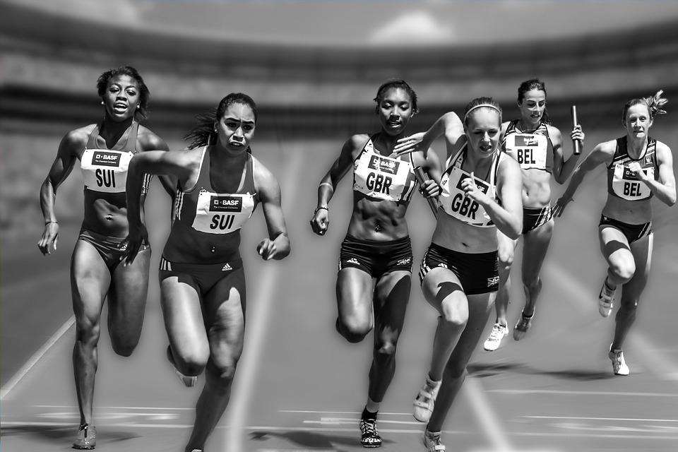 Women, Running, Race, Racing, Athletes
