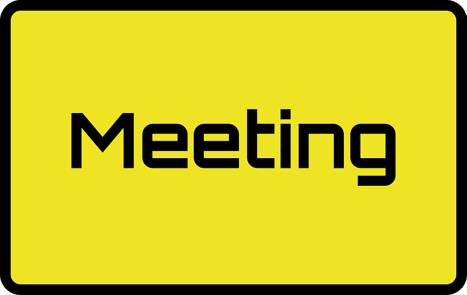 meeting signs sign free vector graphic on pixabay
