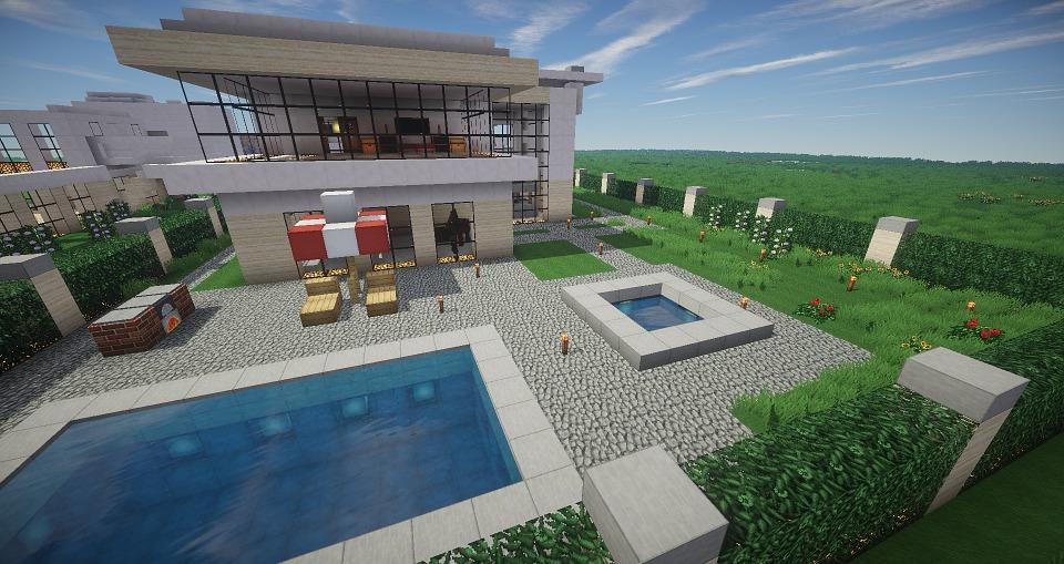 Modern Architecture Minecraft free illustration: minecraft, pool, architecture - free image on