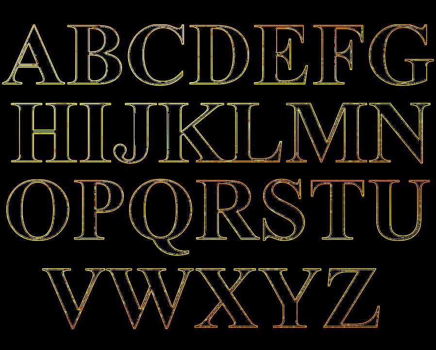 Letras Plantilla Relleno Imagen Gratis En Pixabay