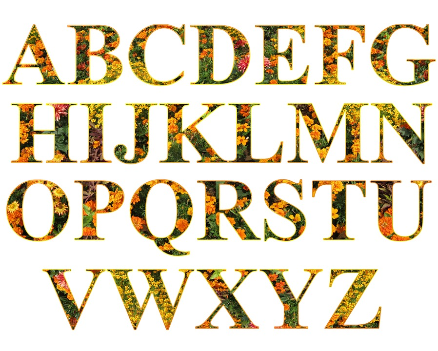 Free illustration letters alphabet filled set free for Alphabet photo letters