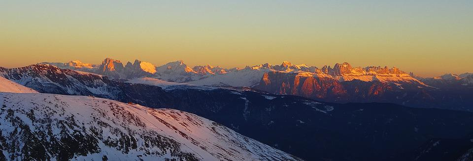 Tramonto, Alto Adige, Dolomiti, Montagne, Sun, Ombra