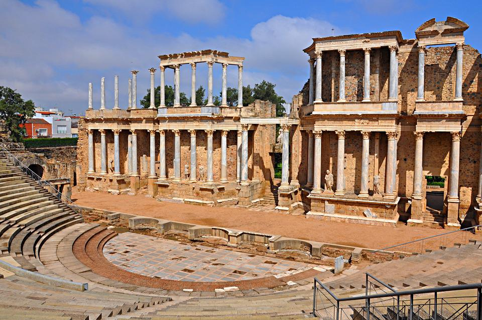 Merida, Extremadura, Hispania Roma, Színház, Színházak