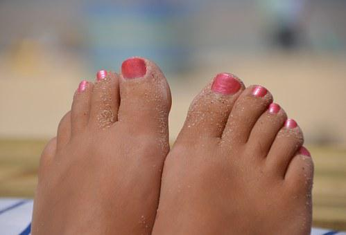 Feet Beautiful Woman Carbis Bay St Ives Co